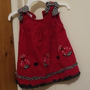 Black and red ladybug toddler dress